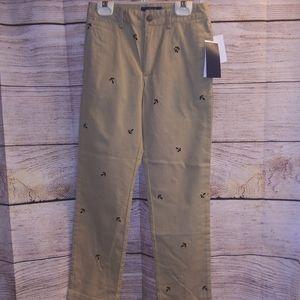 NWT Ralph Lauren Boys Cotton Twill Pants Links Blue Sz 10